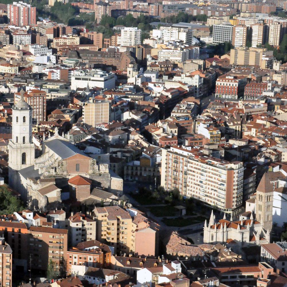 Sobrevolando Valladolid