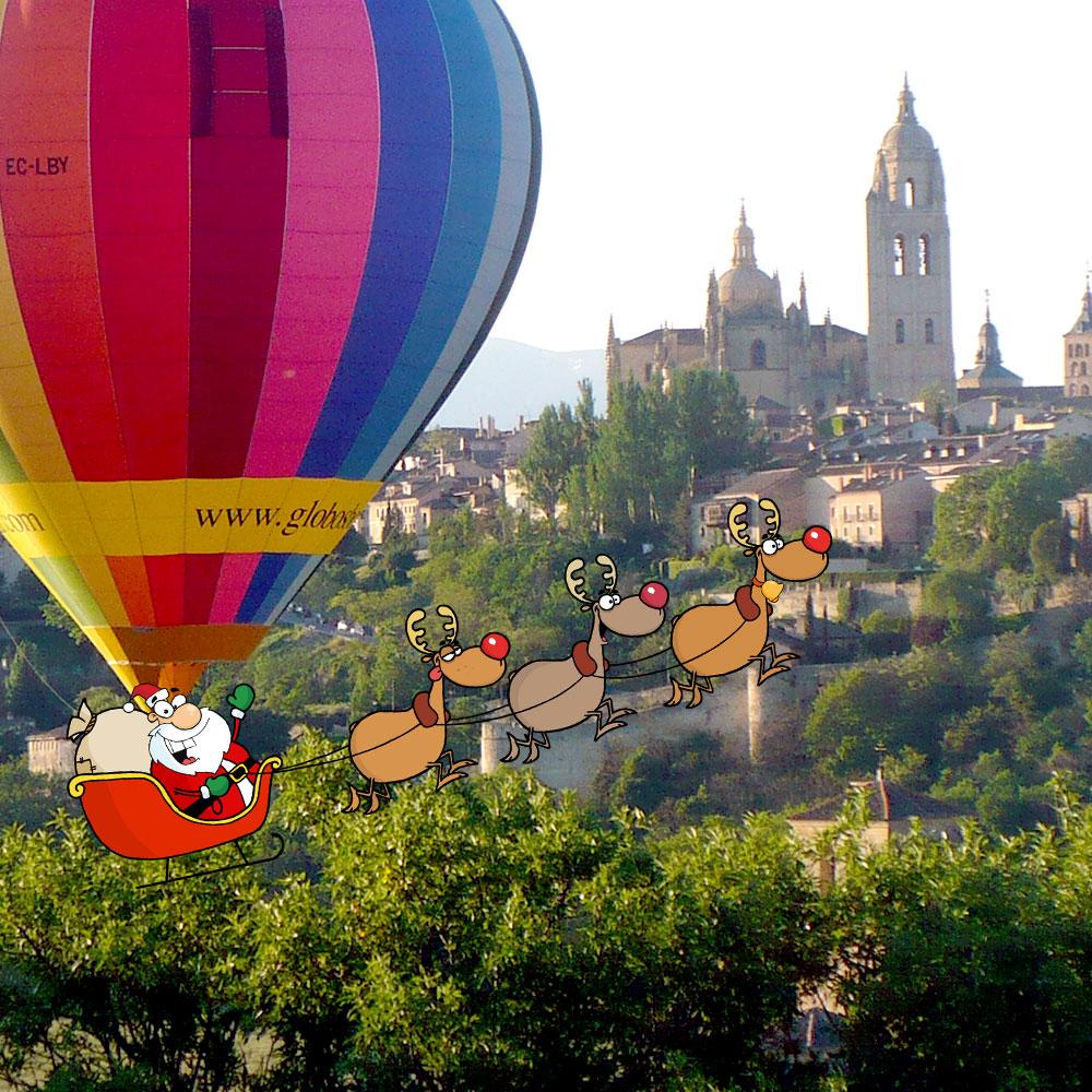Globos Boreal Naviadad en Segovia